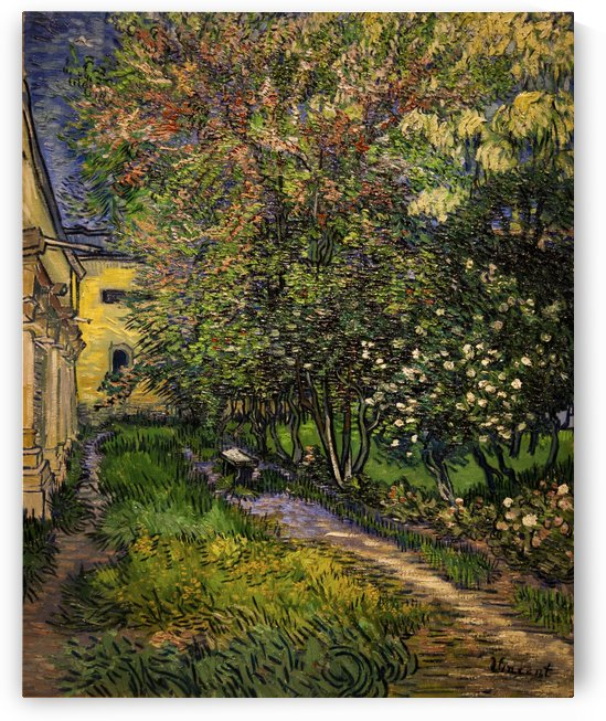 Van Gogh Garden at Asylum by JW Kraft