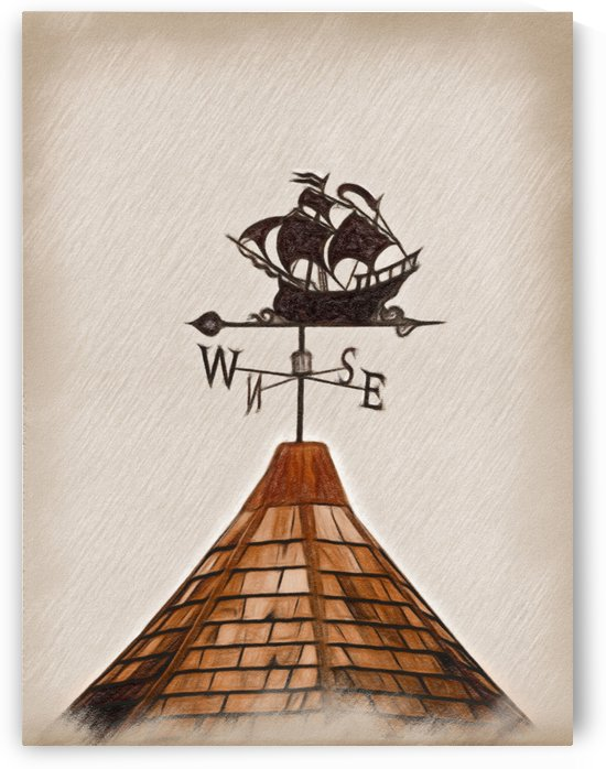 High Seas Clipper Weather Vane by Leslie Montgomery