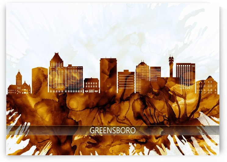 Greensboro North Carolina Skyline by Towseef