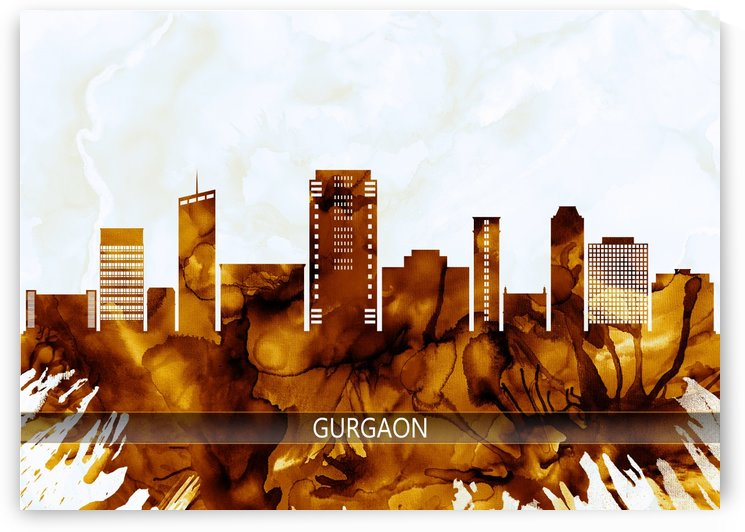 Gurgaon Haryana Skyline by Towseef