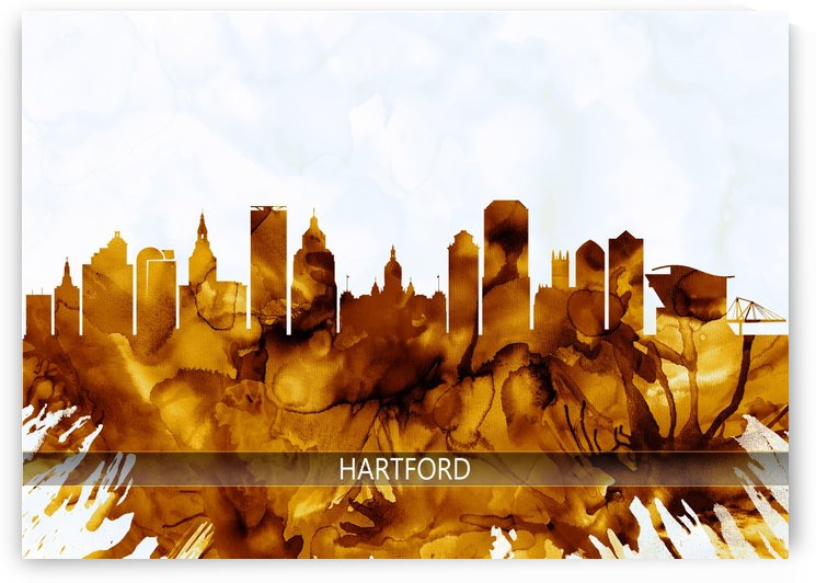 Hartford Connecticut Skyline by Towseef