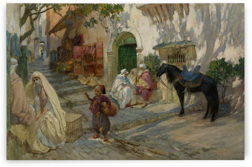 Street scene of Algeria by Frederick Arthur Bridgman