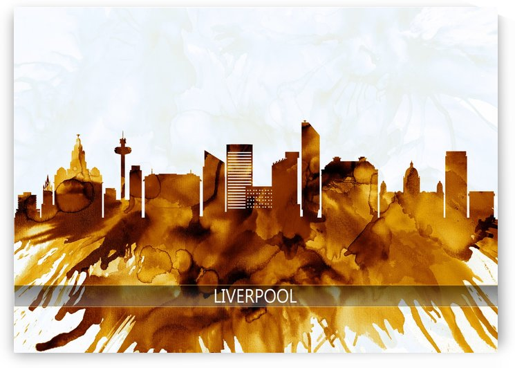 Liverpool England Skyline by Towseef