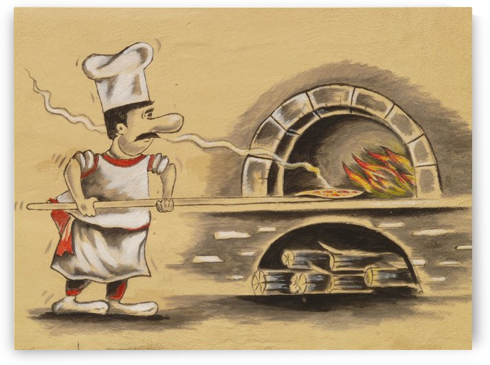 pizza maker by Damian Crown