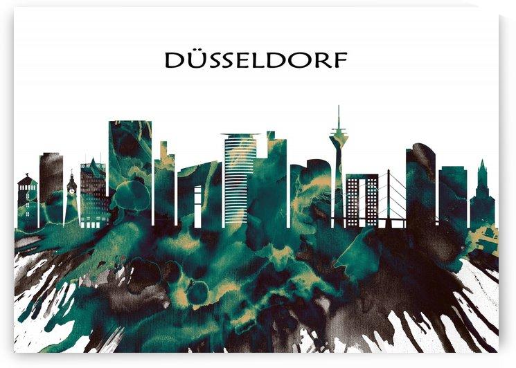 Dusseldorf Skyline by Towseef