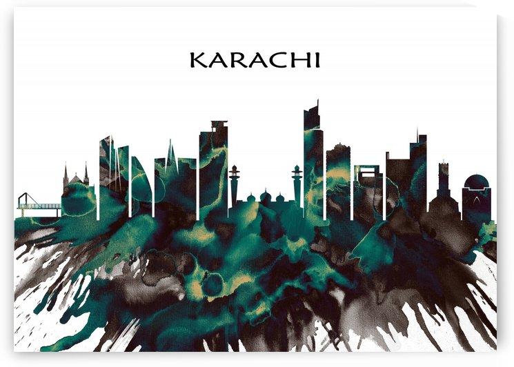 Karachi Skyline by Towseef