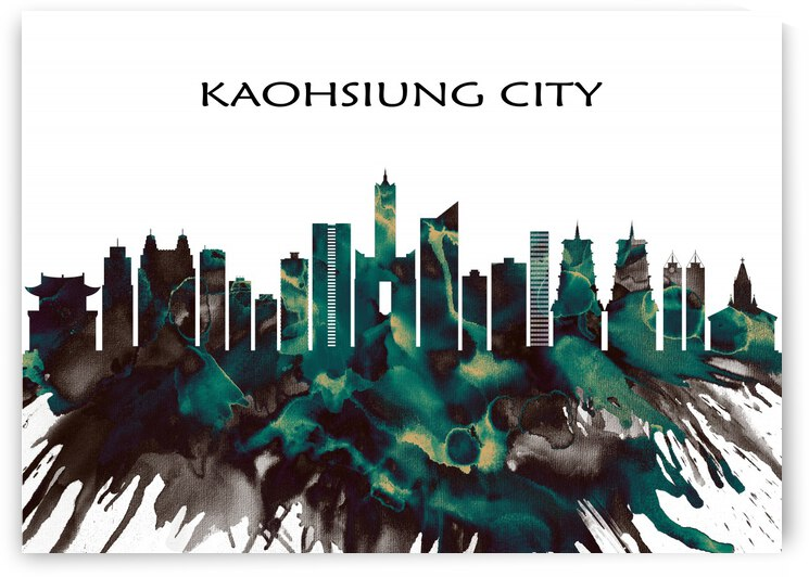 Kaohsiung City Skyline by Towseef Dar