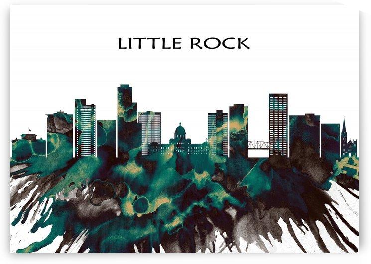 Little Rock Skyline by Towseef
