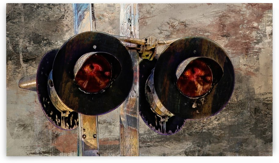 Railroad Crossing Signal by HH Photography of Florida