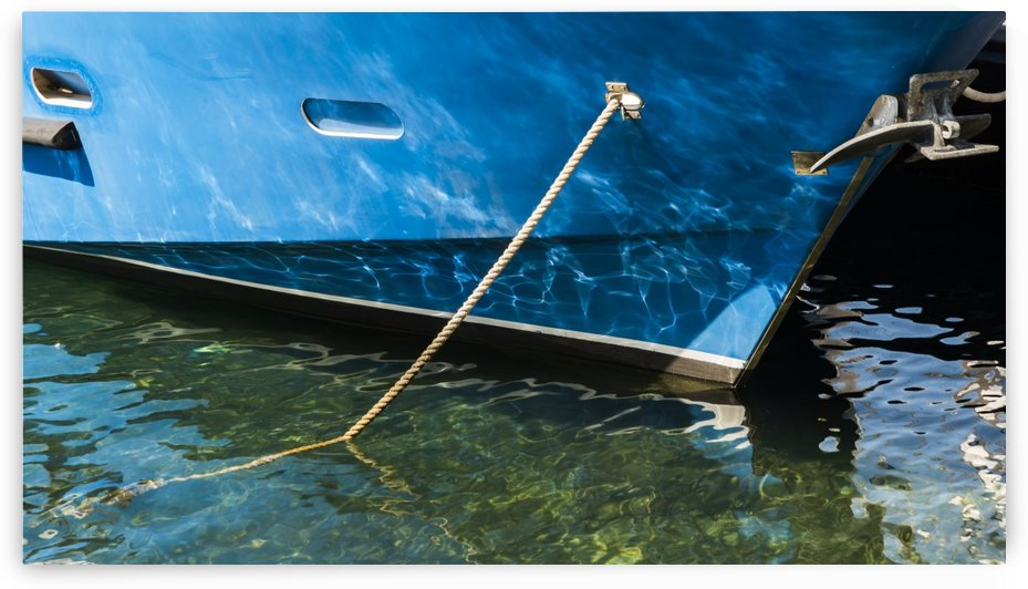 Reflections water boats hull harbor by Downundershooter