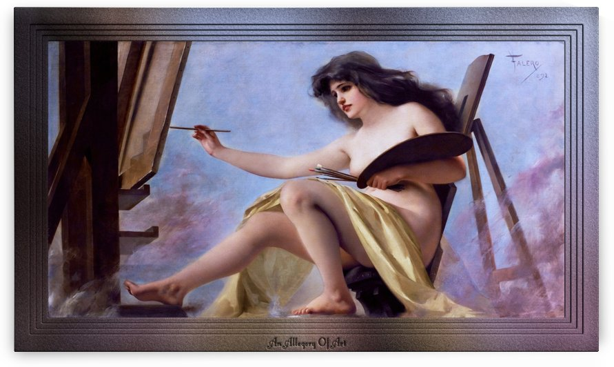 An Allegory Of Art by Luis Ricardo Falero Fine Art Old Masters Prints by xzendor7