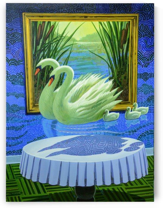 Swan Fantasy by Mr  Atomic Art