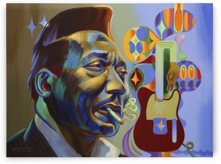Muddy Waters Blue Man by Mr  Atomic Art