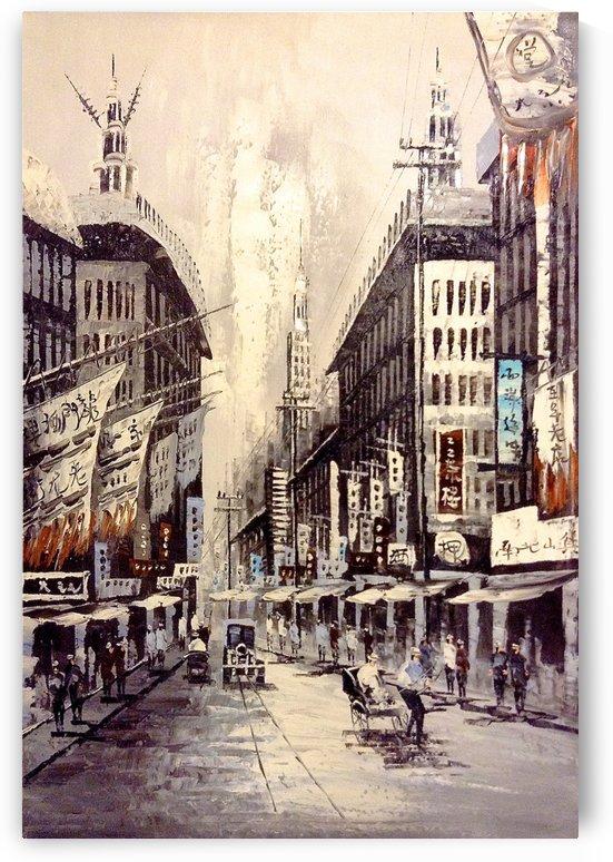 Old Hong Kong Street View by Adi