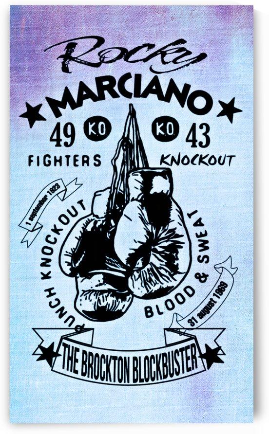 Rocky Marciano boxe legend by Ivan Venerucci Italian Style