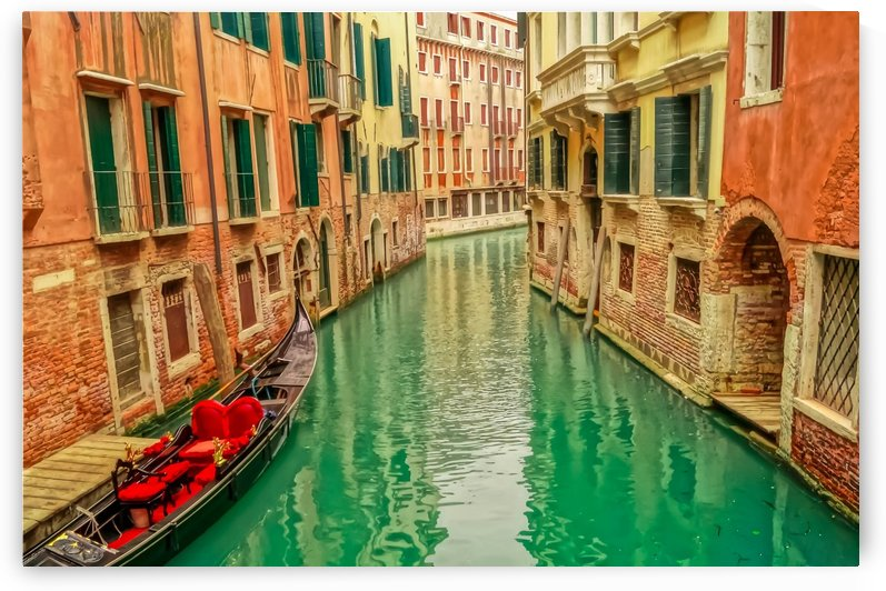 Venice Turquoise Canal by Priscilla Lupo