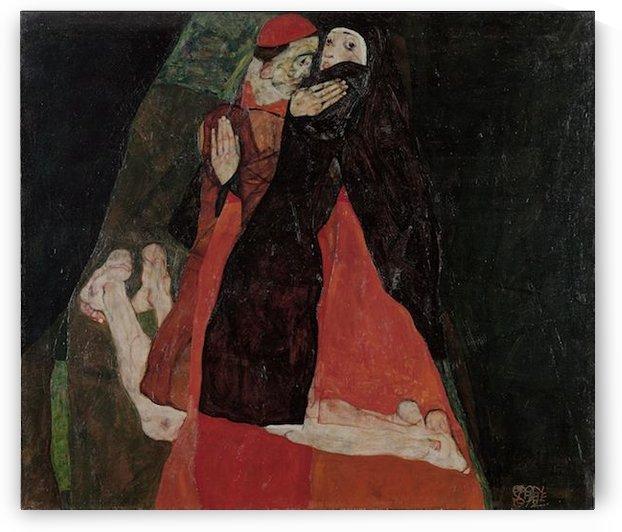 Egon Schiele - Cardinal and Nun by Egon Schiele