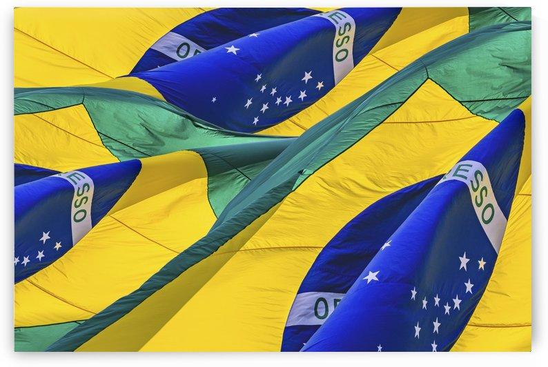 Brazil Flags Waving Background by Daniel Ferreia Leites Ciccarino