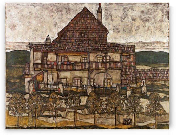 Egon Schiele - House with Shingle Roof by Egon Schiele