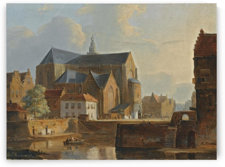 Church near river by Kasparus Karsen
