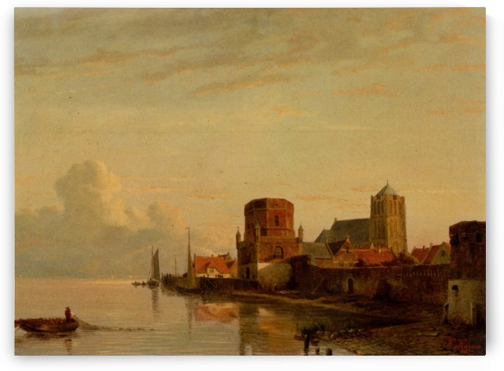 A view of Woudrichem by Kasparus Karsen