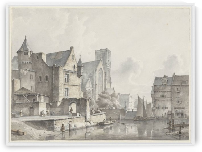 View of the Laurenskerk in Rotterdam by Kasparus Karsen
