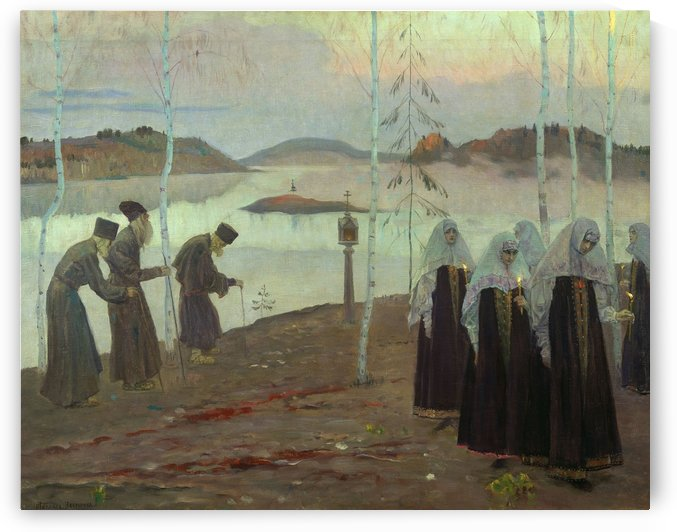 Hermit fathers and immaculate women by Mikhail Nesterov