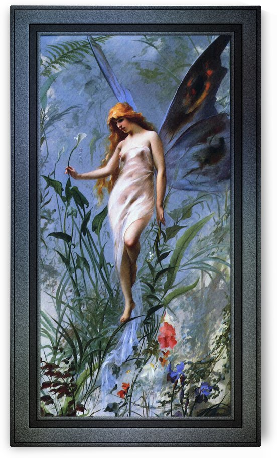 Lily Fairy by Luis Ricardo Falero Old Masters Reproduction by xzendor7