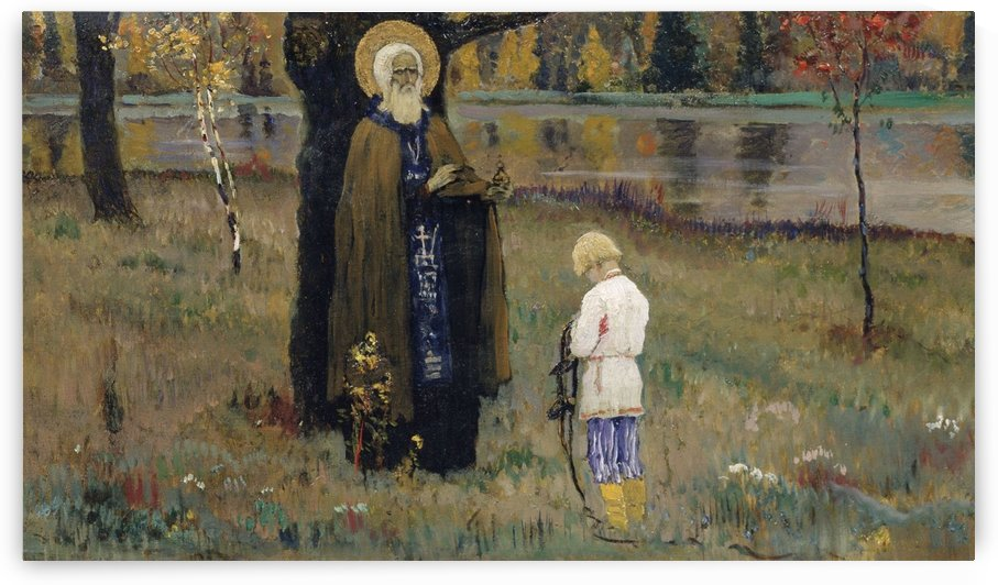 Lesson by Mikhail Nesterov