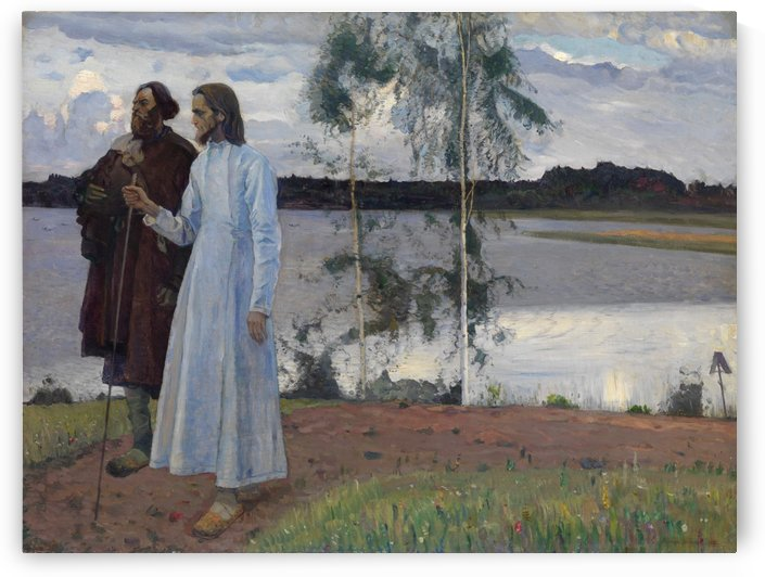 Wayfarers, Beyond the Volga by Mikhail Nesterov