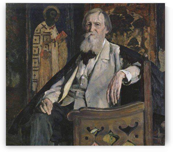 Portrait of Victor Vasnetsov by Mikhail Nesterov
