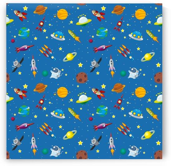 space rocket solar system pattern by Shamudy