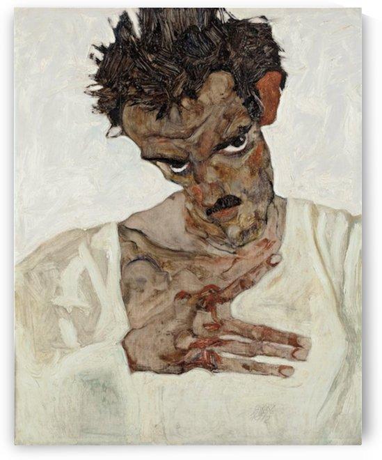 Egon Schiele - Self-Portrait by Egon Schiele