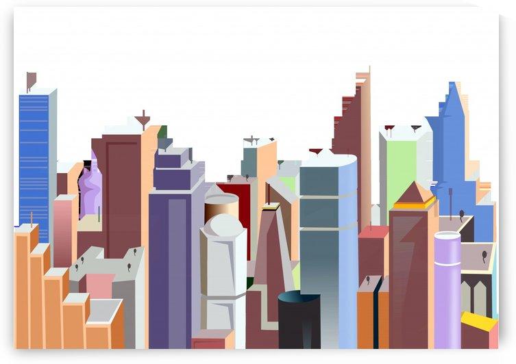city urban buildings skyscraper by Shamudy