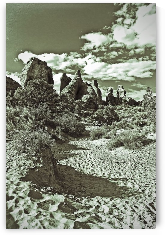 Arches Soft Sand Path by JarmilaKostlivaStudio