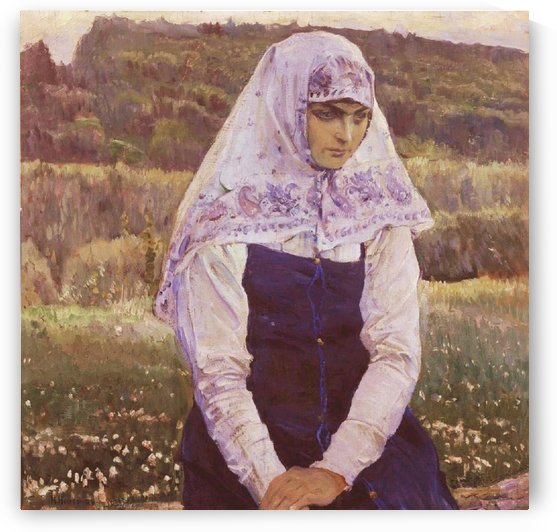 A Bride of Christ by Mikhail Nesterov