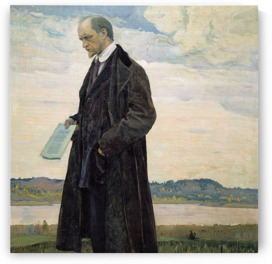 Thinker (Portrait of philisopher Ivan Ilyin) by Mikhail Nesterov
