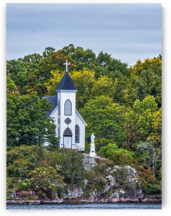 1000 Island   St Brendans Catholic Church Rockport Ontario by Leslie Montgomery