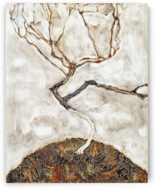 Egon Schiele - Small Tree in Late Autumn by Egon Schiele