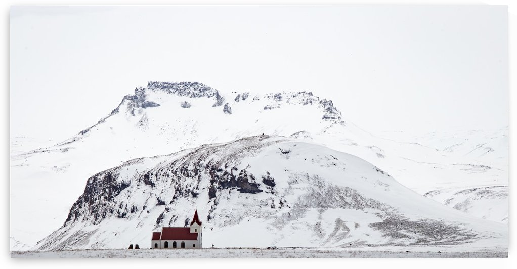 Distant Iceland Church by Dan Fleury