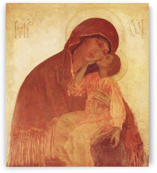 The Mother of God of tenderness by Mikhail Nesterov