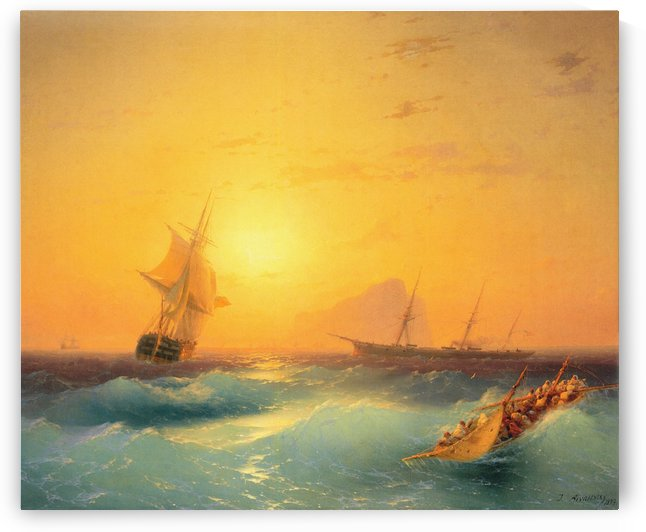 American Shipping off the Rock of Gibraltar by Ivan Aivazovsky