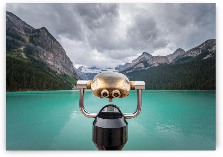 Viewing Glass Lake Louise by Dan Fleury