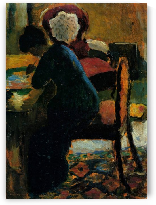 Elisabeth at the desk by Macke by Macke
