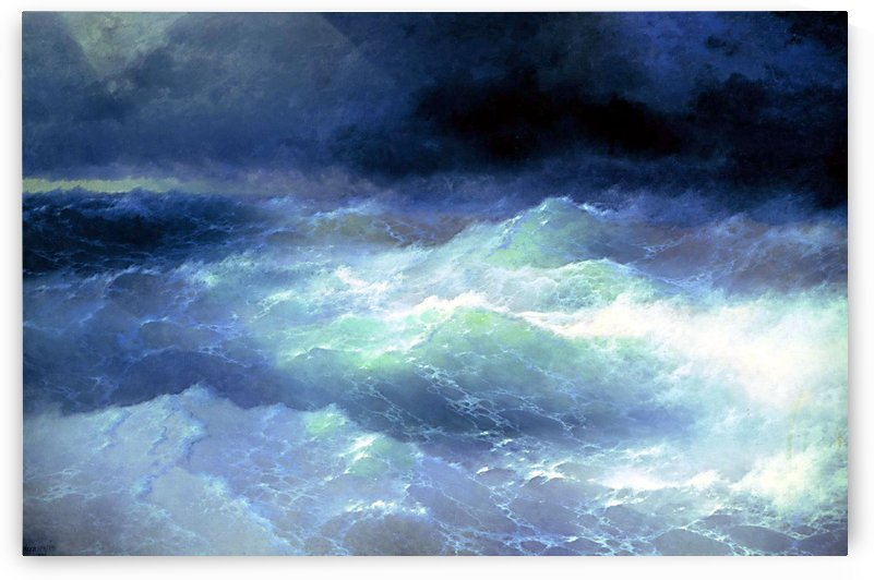 Between the waves by Ivan Aivazovsky