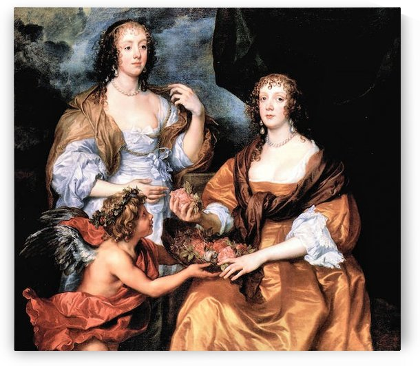 Elizabeth Thimbleby and Dorothy Viscountess Andover by Van Dyck by Van Dyck