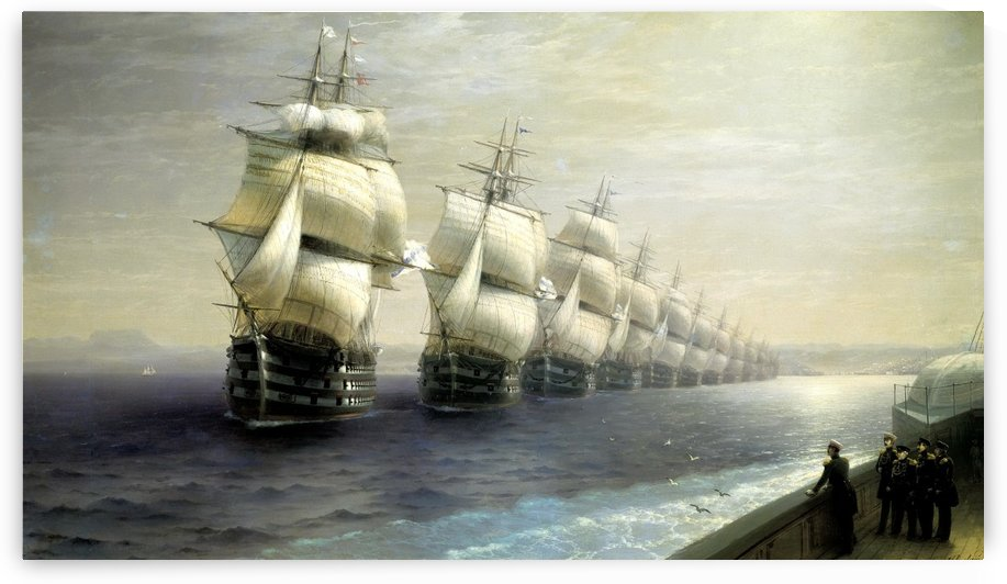 Black Sea fleet by Ivan Aivazovsky