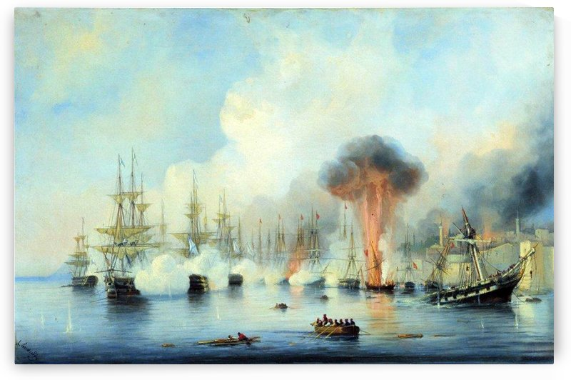 Battle of Sinop by Ivan Aivazovsky