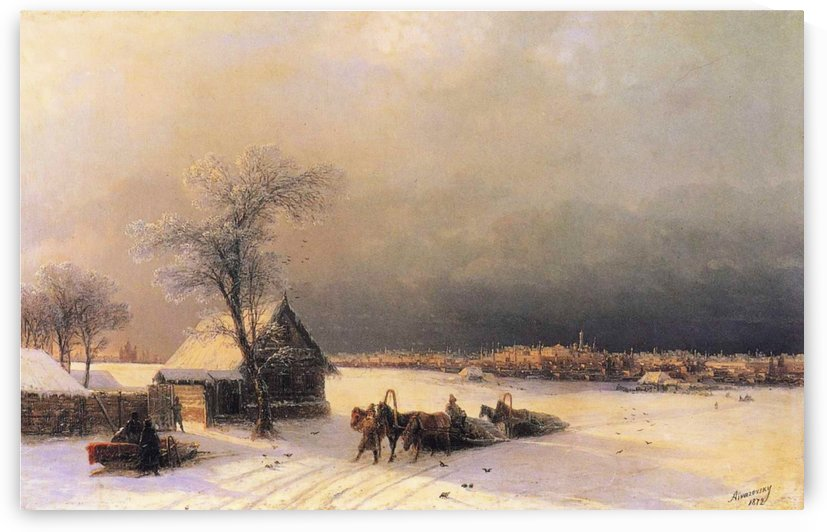 Moscow in Winter from the Sparrow Hills by Ivan Aivazovsky