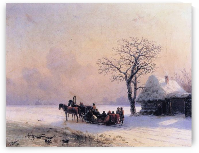 Winter Scene in Little Russia by Ivan Aivazovsky
